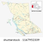road map of the canadian... | Shutterstock .eps vector #1167952339