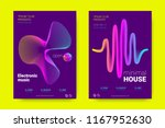 music wave poster. party flyer... | Shutterstock .eps vector #1167952630