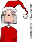 bored woman at christmas party... | Shutterstock .eps vector #1167958489