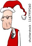 bored man at christmas party... | Shutterstock .eps vector #1167959260