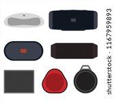 set of wireless speakers flat... | Shutterstock .eps vector #1167959893
