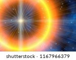 bright flash on a space... | Shutterstock . vector #1167966379