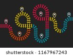 railroad stations map  railway... | Shutterstock .eps vector #1167967243