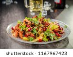 spicy chicken caught cold dish | Shutterstock . vector #1167967423