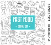 fast food menu traditional... | Shutterstock .eps vector #1167968293