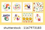 vector collection of cards with ... | Shutterstock .eps vector #1167973183