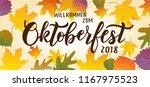oktoberfest hand lettering text ... | Shutterstock .eps vector #1167975523