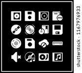 cd icon. 16 cd vector set. cd... | Shutterstock .eps vector #1167976933