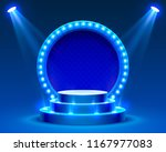 stage podium with lighting ... | Shutterstock .eps vector #1167977083