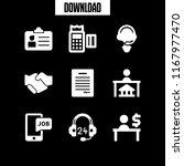 consultant icon. 9 consultant... | Shutterstock .eps vector #1167977470