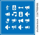 loud icon. 16 loud vector set.... | Shutterstock .eps vector #1167988486