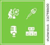 volume icon. 4 volume vector... | Shutterstock .eps vector #1167988600