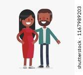 young cute couple vector... | Shutterstock .eps vector #1167989203