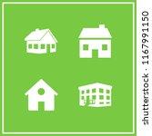 residence icon. 4 residence...   Shutterstock .eps vector #1167991150