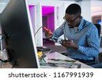 computer engineer repairing... | Shutterstock . vector #1167991939