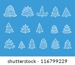 set of different christmas... | Shutterstock .eps vector #116799229