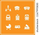 carriage icon. 9 carriage... | Shutterstock .eps vector #1167995830