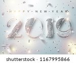 happy new year 2019 greeting... | Shutterstock .eps vector #1167995866