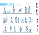 people   set of line design... | Shutterstock .eps vector #1167996079