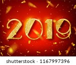 2018 happy new year greeting... | Shutterstock .eps vector #1167997396