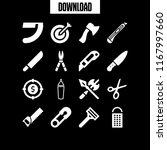sharp icon. 16 sharp vector set.... | Shutterstock .eps vector #1167997660