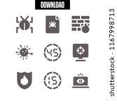hacking icon. 9 hacking vector... | Shutterstock .eps vector #1167998713