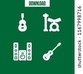 bass icon. 4 bass vector set.... | Shutterstock .eps vector #1167998716