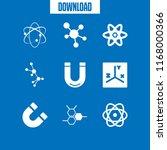 physics icon. 9 physics vector... | Shutterstock .eps vector #1168000366