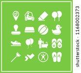 rubber icon. 16 rubber vector... | Shutterstock .eps vector #1168002373