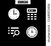 reminder icon. 4 reminder... | Shutterstock .eps vector #1168002406