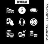 monetary icon. 9 monetary... | Shutterstock .eps vector #1168003429