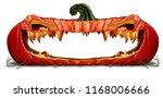 halloween pumpkin design... | Shutterstock . vector #1168006666