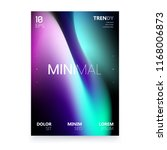 trendy minimalistic fluid... | Shutterstock .eps vector #1168006873