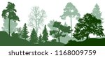 forest green trees silhouette.... | Shutterstock .eps vector #1168009759