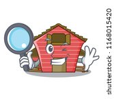 detective a red barn house... | Shutterstock .eps vector #1168015420