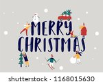 merry christmas holidays... | Shutterstock .eps vector #1168015630