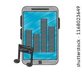 smartphone with music scribble   Shutterstock .eps vector #1168023649