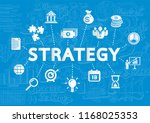business and marketing strategy ... | Shutterstock .eps vector #1168025353