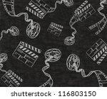clapper board and film written... | Shutterstock . vector #116803150