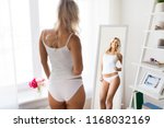 beauty  slimming and people... | Shutterstock . vector #1168032169