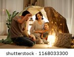 family  hygge and people... | Shutterstock . vector #1168033300