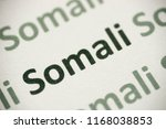 word somali  language printed... | Shutterstock . vector #1168038853