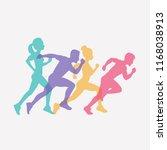 running people set of... | Shutterstock .eps vector #1168038913