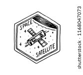 vintage space logo with the... | Shutterstock .eps vector #1168047073