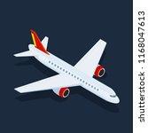 large passenger airplane 3d... | Shutterstock .eps vector #1168047613