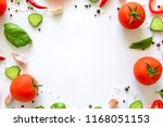 colorful salad ingredients... | Shutterstock . vector #1168051153