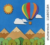 balloon made from recycled... | Shutterstock . vector #116805184
