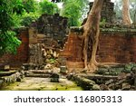 ruin of mystery temple in the...   Shutterstock . vector #116805313