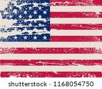 vector grunge flag of usa. | Shutterstock .eps vector #1168054750
