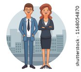 executive business couple | Shutterstock .eps vector #1168054870